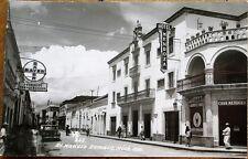 Zamora de Hidalgo, Michoacan, Mexico 1940 Realphoto Postcard: Avenida Madero