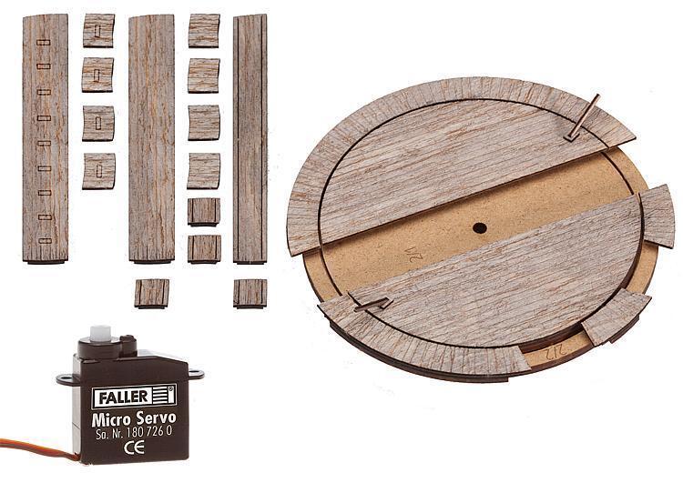 Faller-h0 - 120276 piccole garantite piattaforma girevole con servoattuatore-PER RHB