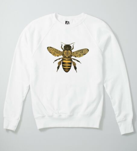 Bee Baroque Sweatshirt Moth Insect Tattoo Ink Jumper Indie Fly Wasp Hipster Top