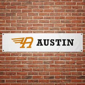 Austin Healey Banner Garage Workshop PVC Sign Trackside Car Display BLACK /& RED
