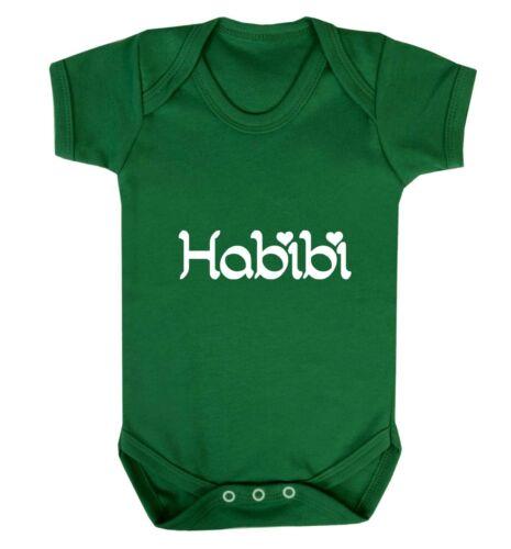 baby vest Arabic Islamic Muslim love heart sweetheart hipster gift  3253 Habibi
