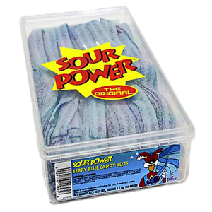 DORVAL-SOUR-POWER-BERRY-BLUE-CANDY-BELTS-150ct-2-Pounds-Box-Candy-Bar-Buffet