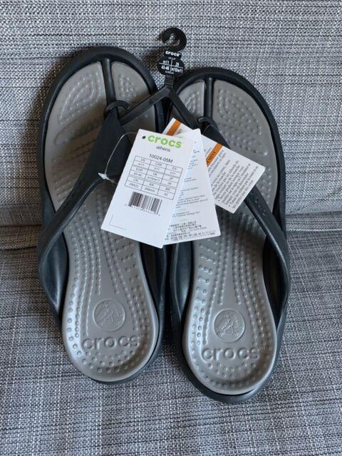 Mens Crocs Duet Wave Flip Flops Sandals