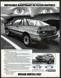 1987 Nissan Sentra Coupe Vintage Original Print Ad Back Car Art French Canada Ebay Car is in good running condition and mechanically 100%. details about 1987 nissan sentra coupe vintage original print ad back car art french canada