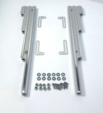Universal Finned Polished Aluminum Spark Plug Wire Loom Separators Holders