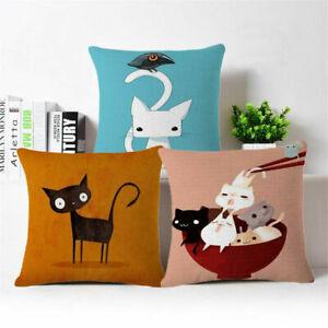 18-039-039-Lovely-Cat-Linen-Cotton-Throw-Pillow-Case-Cushion-Cover-Home-Sofa-Decor
