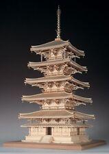 Woody JOE 1/75 Wooden Model Kit Horyu-ji Five-Story Pagoda Laser Cut Brand New