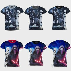 Garcons-Disney-Star-Wars-Dark-Vador-Stormtrooper-Kylo-Ren-T-shirt-Top-BNWT-7