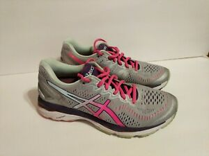 Details about Asics Gel Kayano 23 Women's Running Shoes Size US 8 M EU 39.5  Silver T696N
