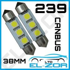 239 FESTOON SMD LED XENON WHITE CANBUS ERROR FREE INTERIOR BOOT LIGHT BULBS 272