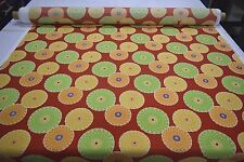 RICHLOOM SPRINGDALE BEACHSIDE OUTDOOR INDOOR UPHOLSTERY FABRIC RED GREEN FLORAL