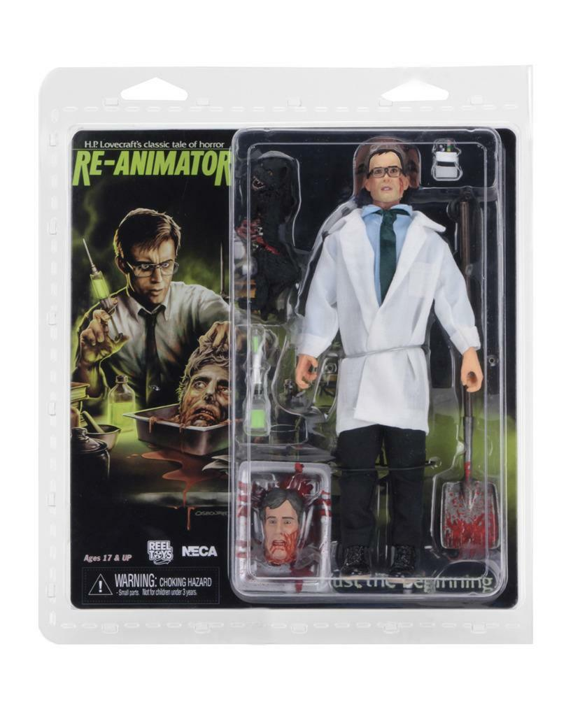 Dr. Dr. Dr. Herbert West RE-ANIMATOR 8  Clothed Action figure NECA 30754 NEW SEALED 2e87bf