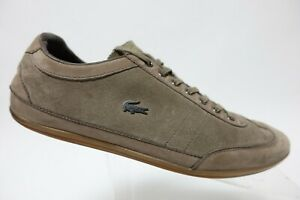 LACOSTE-Suede-Brown-Sz-10-Men-Casual-Lace-Up-Sneakers