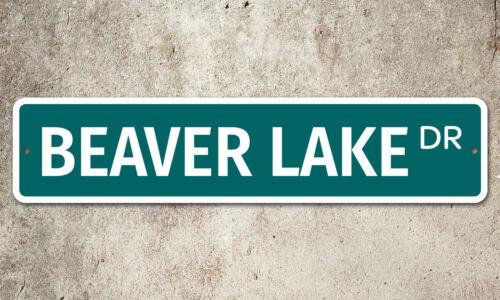 "5252 SS Beaver Lake 4/"" x 18/"" Novelty Street Sign Aluminum"