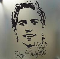 Rip Paul Walker Fast And Furious Euro Jdm Drift Racing Sticker Face Portrait