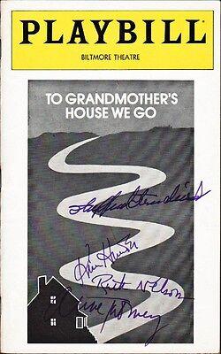 To Grandmother's House We Go Playbill Signed Shepperd Strudwick +2 Kim Hunter