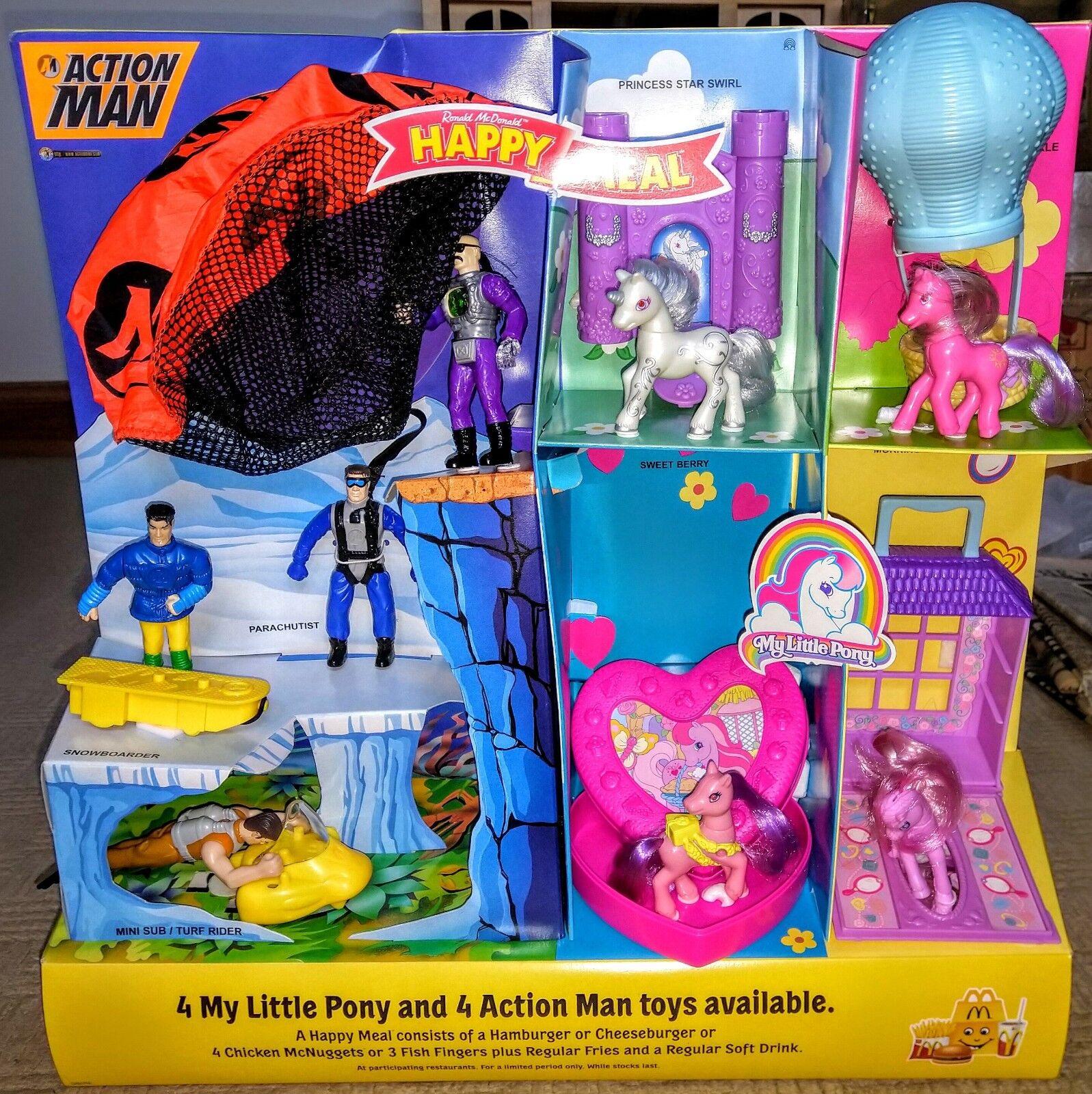 1999 McDonalds UK Shop Display Action Man & My Little Pony Mc