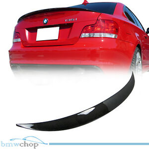 f34bf7cc8cf4 Image is loading Carbon-Fiber-BMW-E82-Performance-P-Trunk-Spoiler-