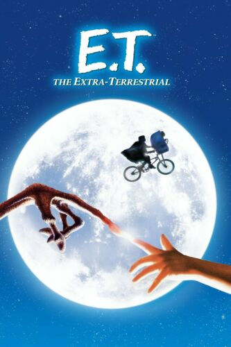"""/""""E.T.; The Extra Terrestrial/"""" . Classic Movie Poster Various Sizes Version 3."""