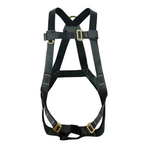 Fusion Climb Vertigo Basic Full Body Adjustable Zipline Harness 23kN M-L Black