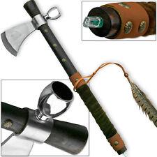 Native Peace Pipe Tomahawk Replica American Hatchet Ceremonial Treaty Axe Smoke