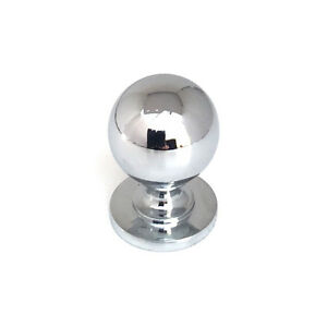 Victorian Chrome Ball Kitchen Bedroom Cabinet Door Knob Handle