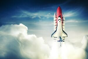 A1-Space-Rocket-Poster-Art-Print-60-x-90cm-180gsm-Astronaut-Shuttle-Gift-8204