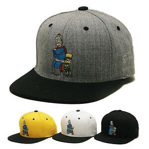198092800f1525 Das Bild wird geladen The-Simpsons-Homer-Bart-Herren-Basecap-Muetze -Baseball-