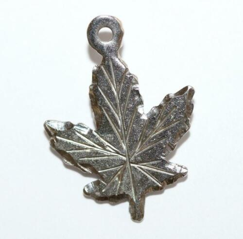 Enameled Toronto Canada Maple Leaf Sterling Silver Charm of Pendant.