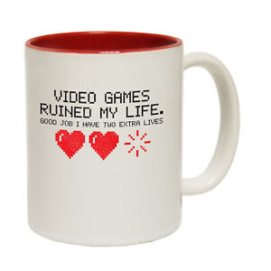 Funny Mugs Video Games Ruined My Life Geek Geeky NOVELTY MUG secret santa
