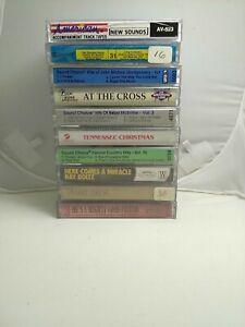 10 Cassette Lot Karaoke Tapes Vintage Accompaniment Country Gospel Tennessee