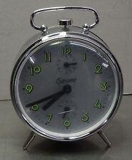 """Vintage alarm clock - Alter mechanischer Chrom Wecker """"Garant"""" Uhr"""