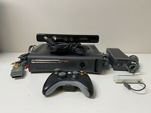 Xbox-360-Slim-120-GB-Console-Bundle-Controller-Cables-Kinect-Tested-amp-Working