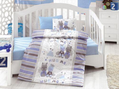 Midilli Pferdchen 100x135//40x60 cm Renforcé Baumwolle Baby Bettwäsche