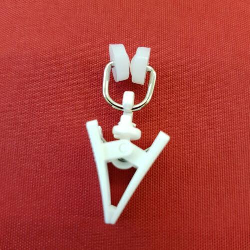 T-Rollringe Metall mit Klammer Gleiter Laufrollen Faltenhaken Gardinenröllchen