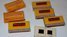 6 VINTAGE BOXES HONG KONG & MACAO SOUVENIR SLIDES! KOWLOON/PEOPLE/NEW TERRITORY+