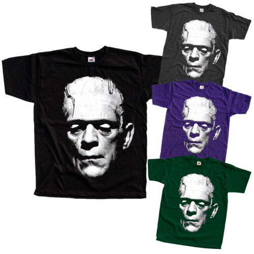 movie poster T-shirt Frankenstein V7 Toutes Tailles S-5XL noir, vert bouteille