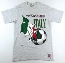 Vintage 90s World Cup 94 Italy NUTMEG T-Shirt Size M Soccer Futbol (EXC.)