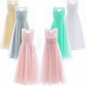 US Size 4-14 Flower Girl Dress Pageant Kids Party Gown For Wedding Birthday