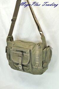 Ahmik Casual Canvas Shoulder Messenger Bag B-3004 Khaki
