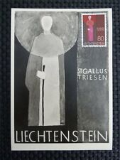 LIECHTENSTEIN MK 1968 492 ST. GALLUS MAXIMUMKARTE CARTE MAXIMUM CARD MC CM c1936