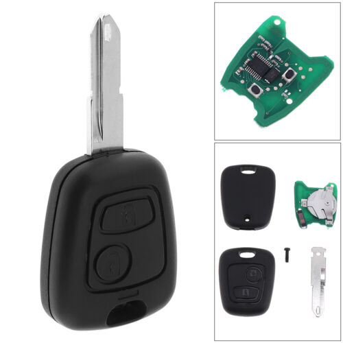 433MHz 2Button Keyless Remote Key FOB PCF7961 NE73 Blade for Peugeot 206 306 405