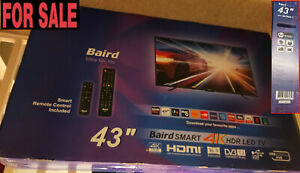 """NEW BAIRD 43"""" SMART HDR 4K LED TV MODEL TI4311DLEDDS (BOXED)"""
