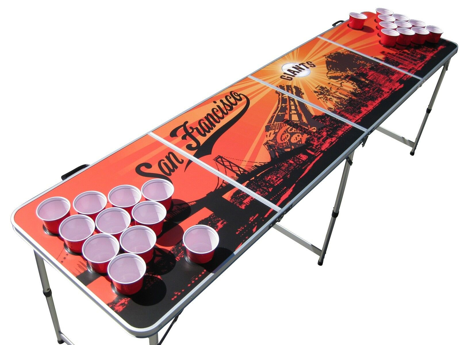 San Francisco Giants Beer  Pong Table with holes.  in stock