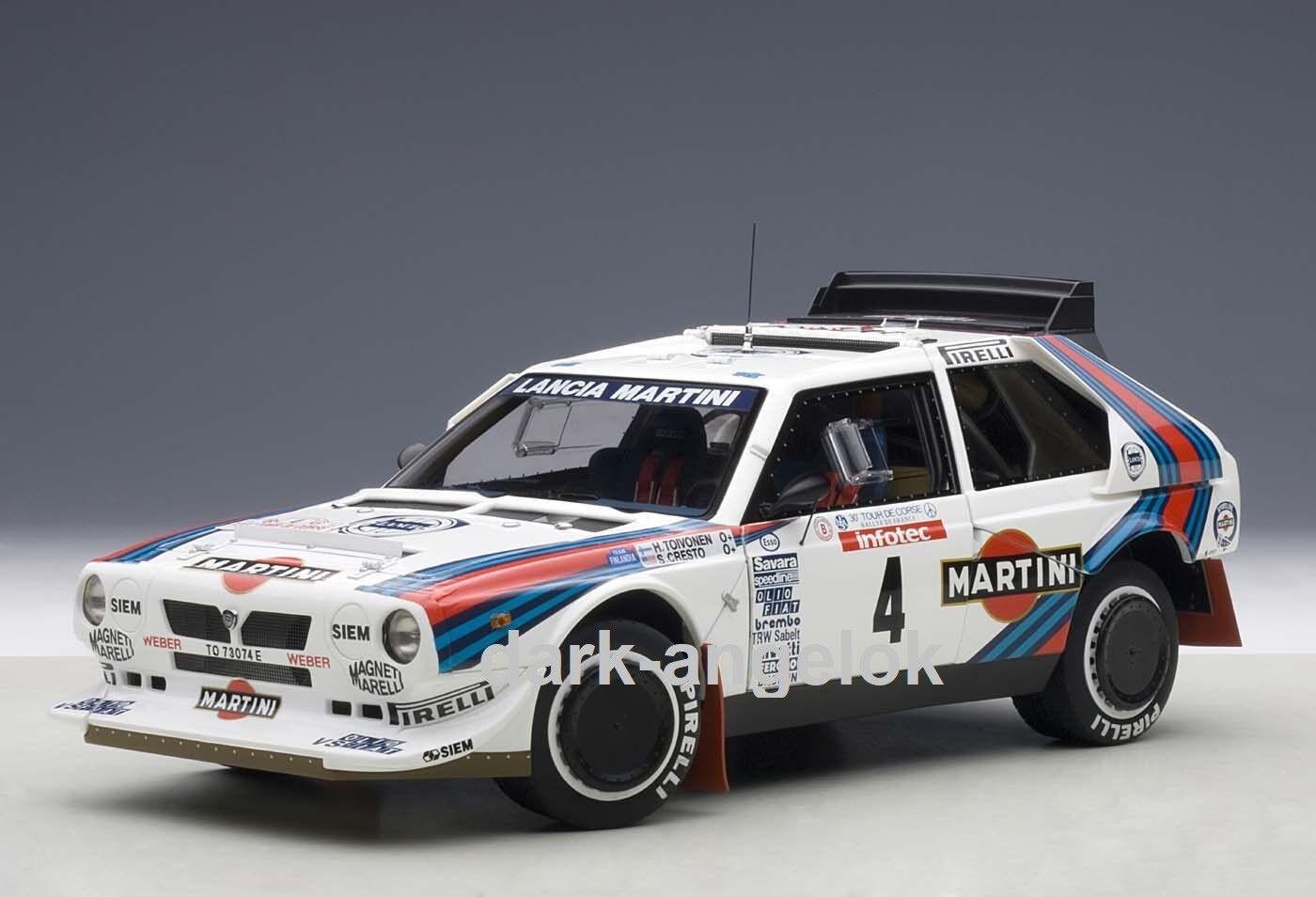 1 18 Autoart 88620 lancia delta s4 Tour de Corse 1986 Nº 4 Toivonen, neu&ovp