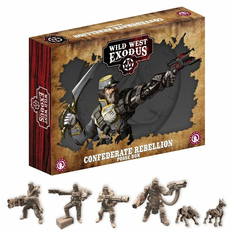 CONFEDERATE REBELLION POSSE  - WILD WEST EXODUS - SHIPPING NOW