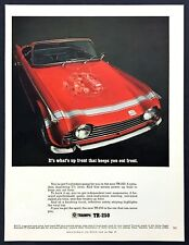 1968 TRIUMPH TR-250 RACE Car GROUP 44 BOB TULLIUS VintageLook REPLICA METAL SIGN