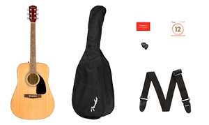 FENDER FA-115 Acoustic Guitar Package w/Case / Strap / Picks / Strings ~ NEW Kit