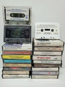 Lot-of-20-Hymns-Southern-Gospel-Worship-amp-Praise-Songs-Music-Cassette-Tapes