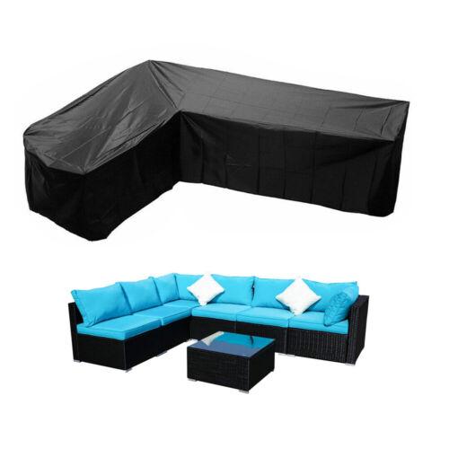 Lounge Set Sofa Schutzhülle L-Form Regenschutz Gartenmöbel Abdeckung Abdeckhaube